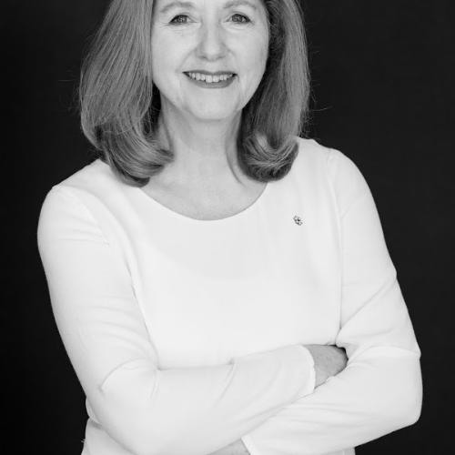 Mary Gordon black and white portrait